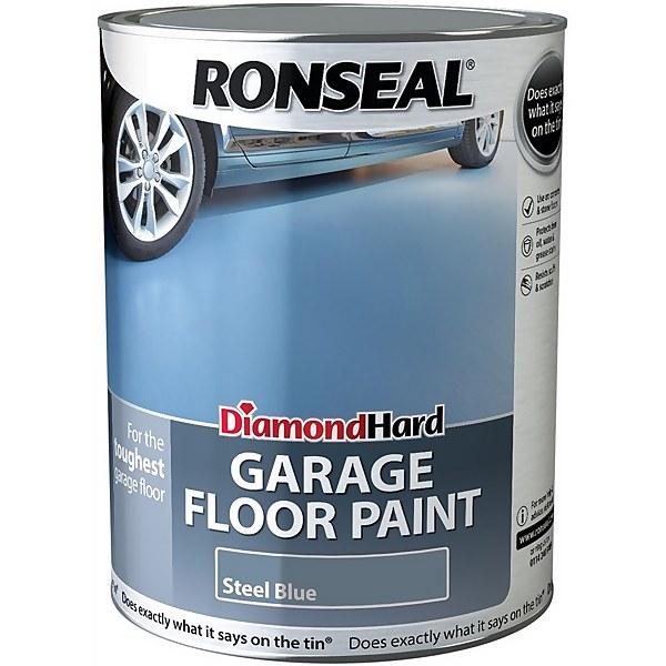 Ronseal Diamond Hard Steel Blue - Garage Floor Paint - 5L