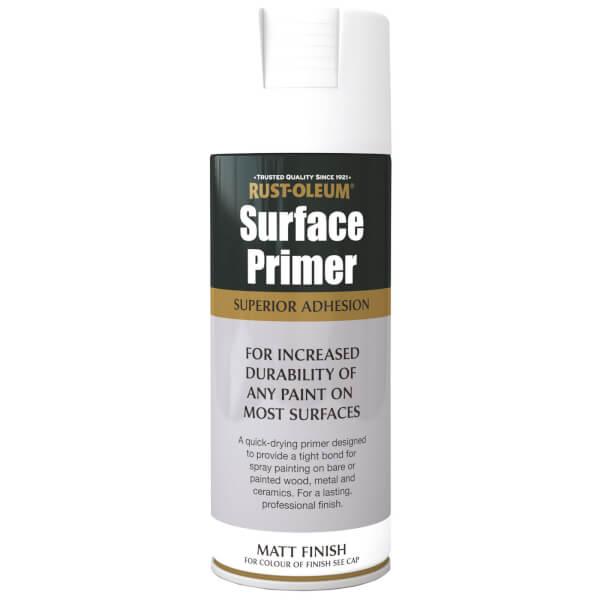 Rust-Oleum Surface Primer Spray Paint - White - 400ml