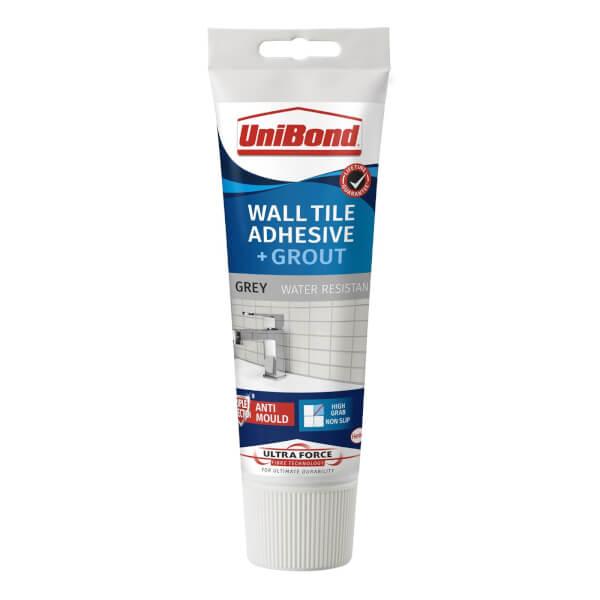 UniBond UltraForce Wall Tile Adhesive & Grout Tube Grey 0.3kg