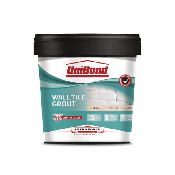UniBond UltraForce Wall Tile Grout Beige 1.38kg