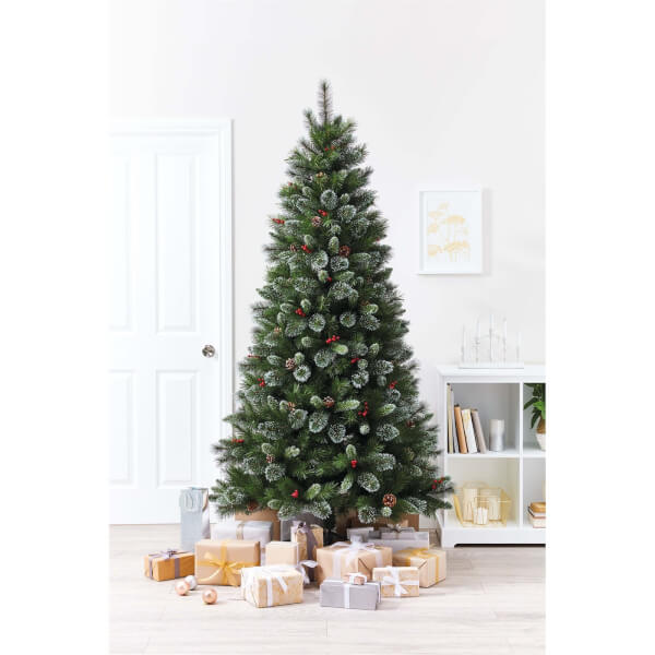 7ft Bergen Pre-Decorated Artificial Christmas Tree