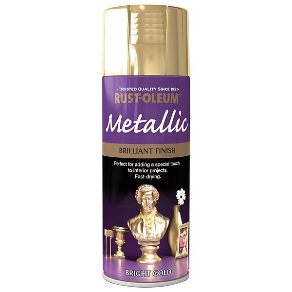 Rust-Oleum Bright Gold - Metallic Spray Paint - 400ml