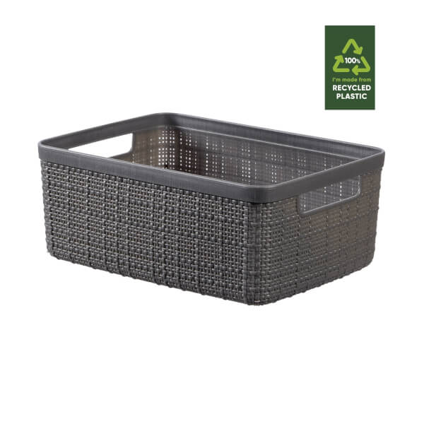 Jute Small Basket - 5L - Deep Shadow