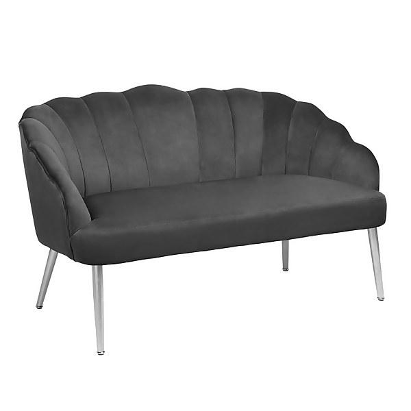 Sophia Scallop Occasional Sofa - Grey