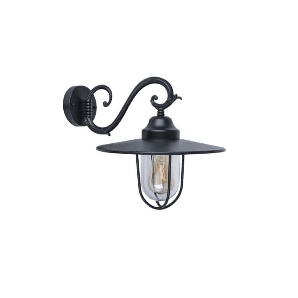 Lutec Lucy Outdoor Wall Lantern In Black
