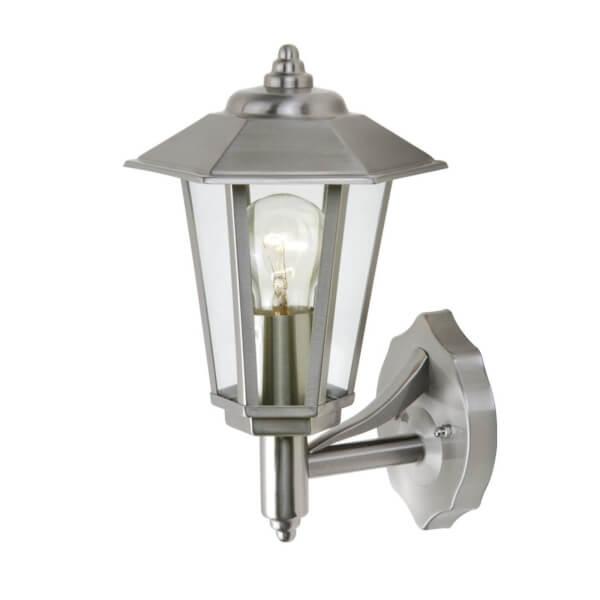 Lutec Grosvenor Stainless Steel Outdoor Wall Lantern