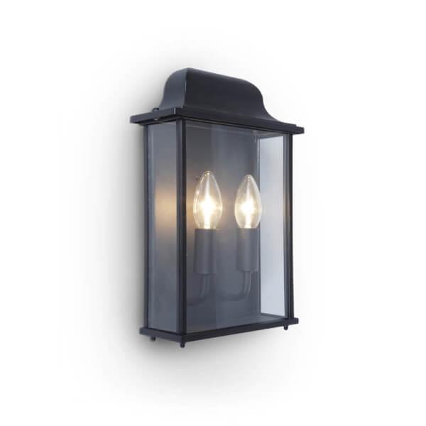 Lutec Holly Outdoor Wall Lantern In Black