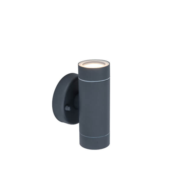 Lutec Rado Up And Down Outdoor Wall Light In Dark Graphite