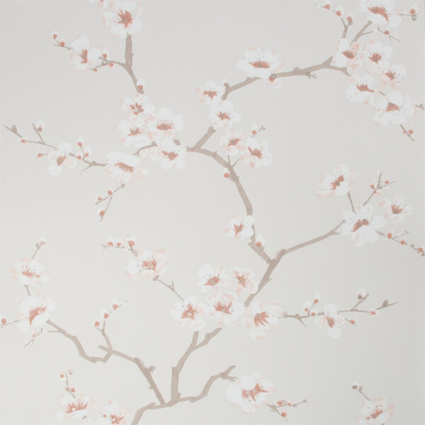 Fresco Apple Blossom Burnt Orange Wallpaper