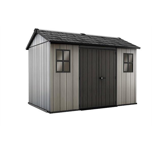 Keter Oakland Outdoor Garden Storage Shed 11x7.5ft Grey