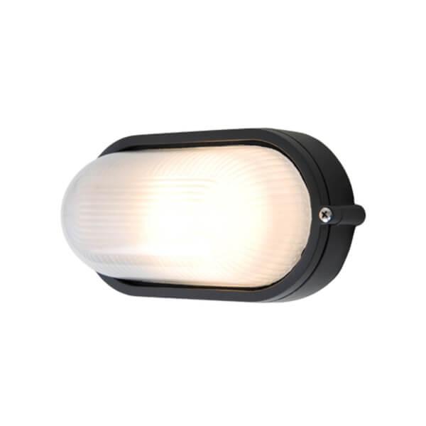 Lutec Echo Outdoor Bulkhead Wall Light In Black