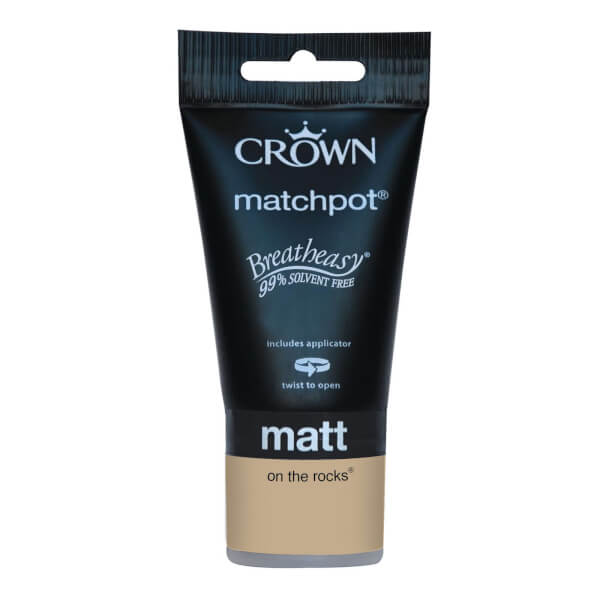 Crown Breatheasy Neutrals On The Rocks - Matt Emulsion Paint - 40ml Tester