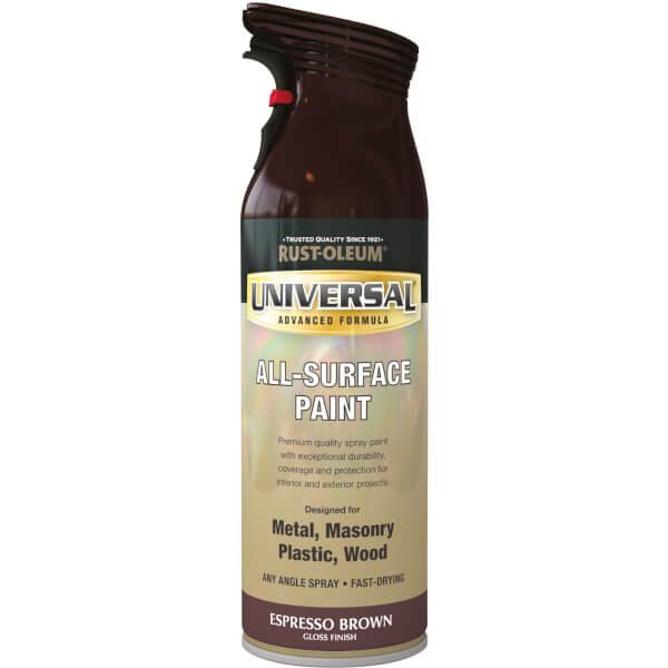 Rust-Oleum Universal Gloss Spray Paint - Espresso Brown - 400ml