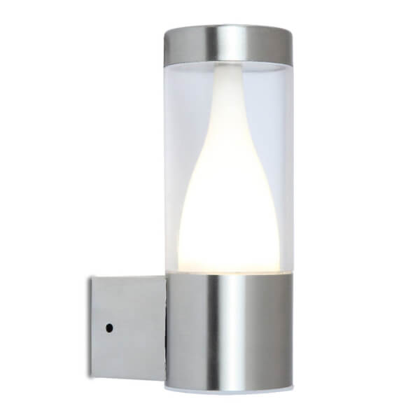 Lutec Virgo LED Stainless Steel Outdoor Wall Light