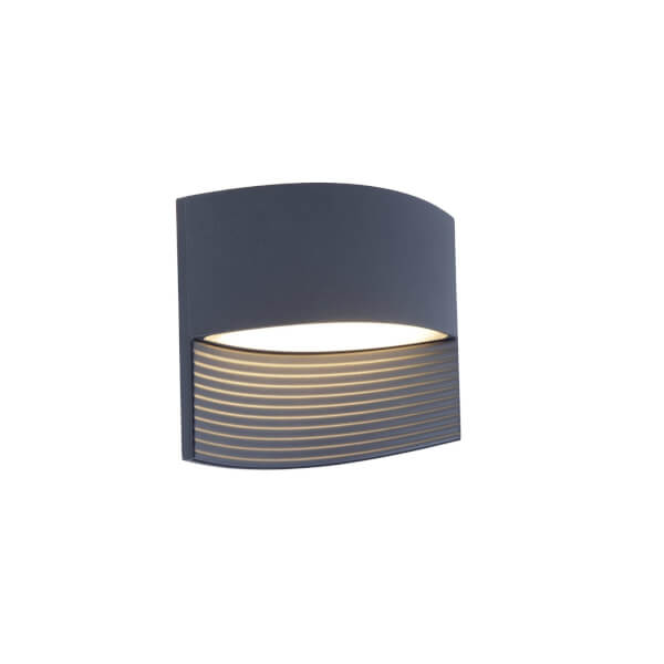 Lutec Lotus LED Up And Down Outdoor Wall Light In Dark Grey