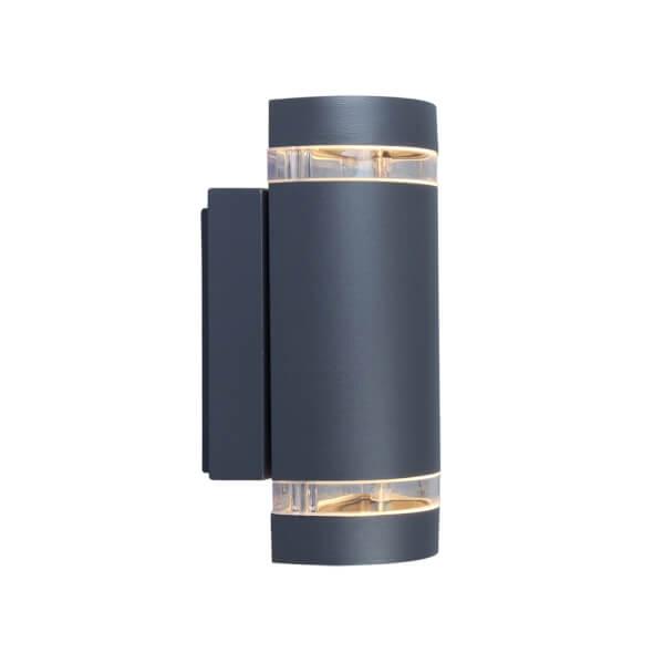 Lutec Focus Outdoor Wall Light In Dark Grey