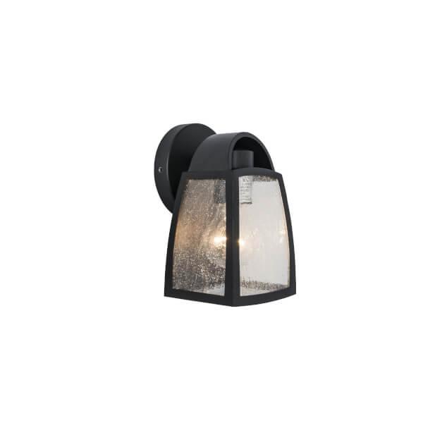 Lutec Kelsey Outdoor Wall Lantern In Black