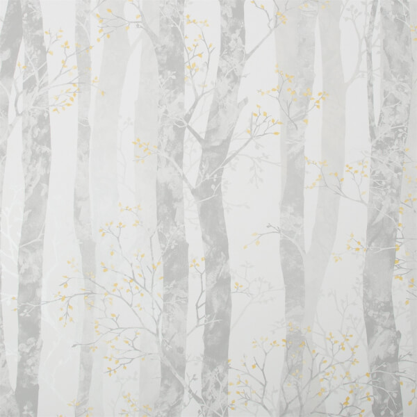 Fresco Dappled Trees Ochre Wallpaper