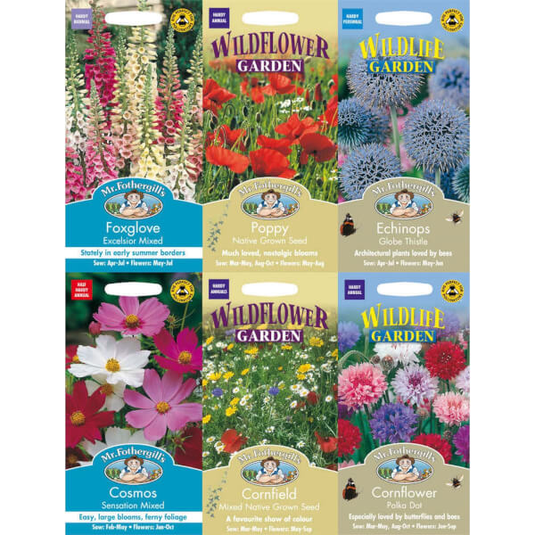 Mr. Fothergill's Nature Attracting Flowers Seeds Bundle