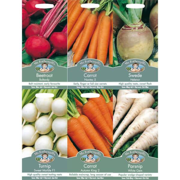 Mr. Fothergill's Root Vegetable Seeds Bundle
