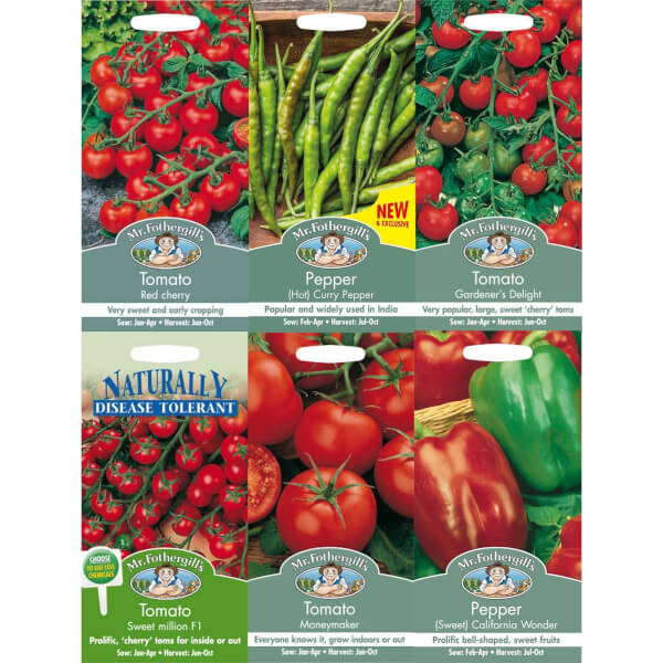 Mr. Fothergill's Tomatoes and Peppers Seeds Bundle