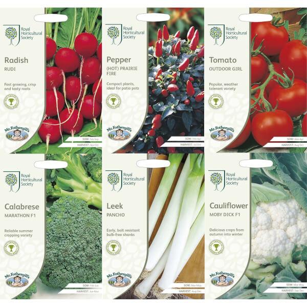 RHS Vegetable Starter Seeds Bundle
