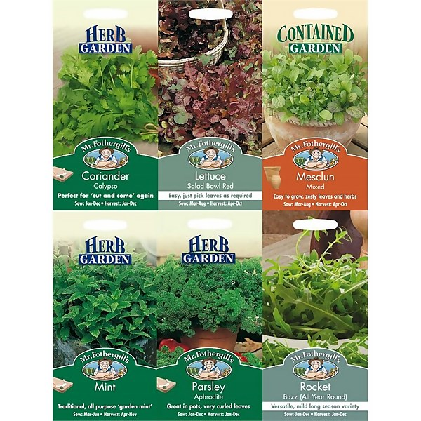 Mr. Fothergill's Herby Salad Seeds Bundle