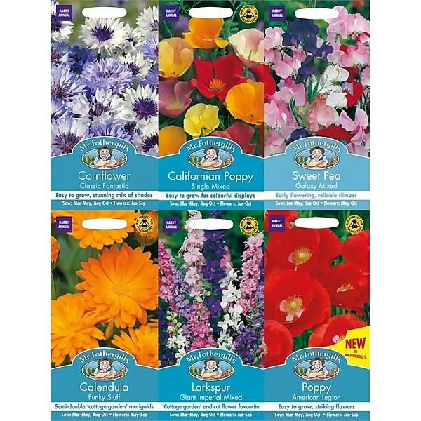Mr. Fothergill's Late Season Sowing Flowers Seeds Bundle
