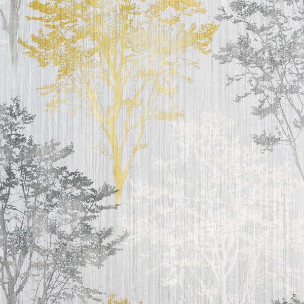 Arthouse Wildwood Ochre Grey Wallpaper