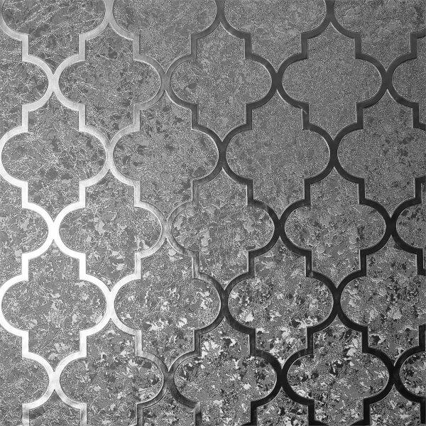 Arthouse Velvet Trellis Gunmetal Wallpaper