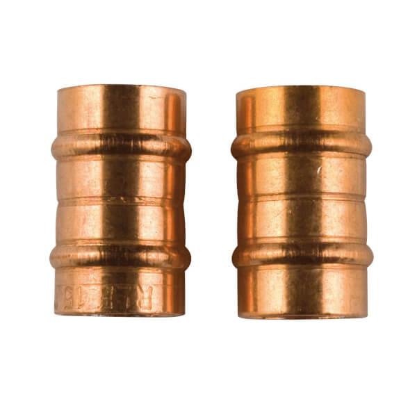 Solder Ring Connector - Copper - 15mm - 2 Pack