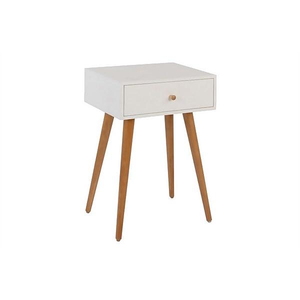 Delila Bedside Cabinet - White