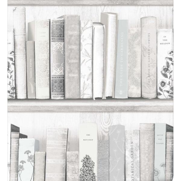 Superfresco Easy Botany Library White Blue Wallpaper