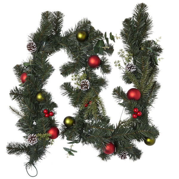 Deco Luxe Baubles Natural Garland 180cm