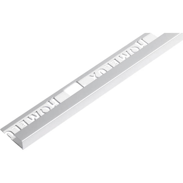 Homelux 9mm Square Edge Tile Trim - Silver Effect - 1.83m