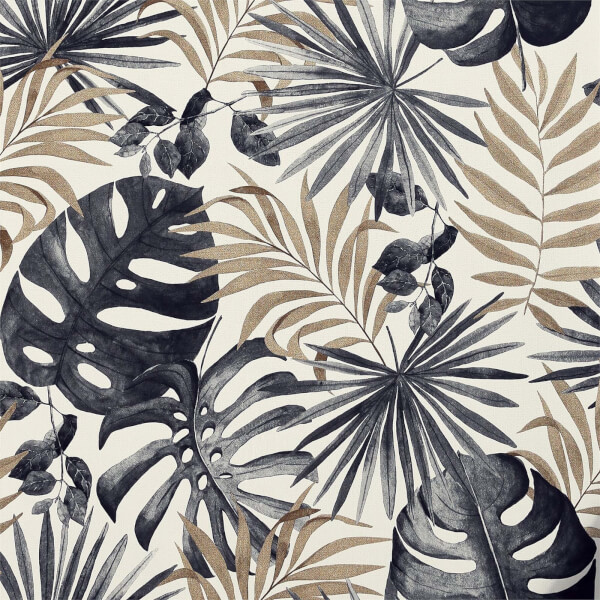 Arthouse Jungle Wall Black Gold Wallpaper