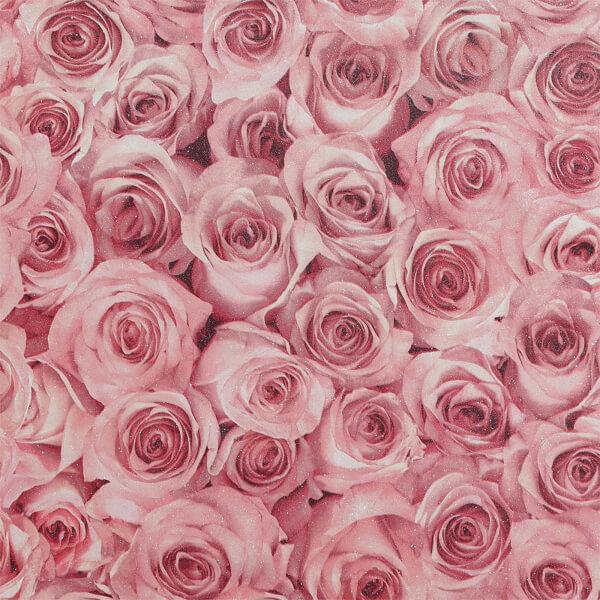 Arthouse Rose Wall Raspberry Wallpaper