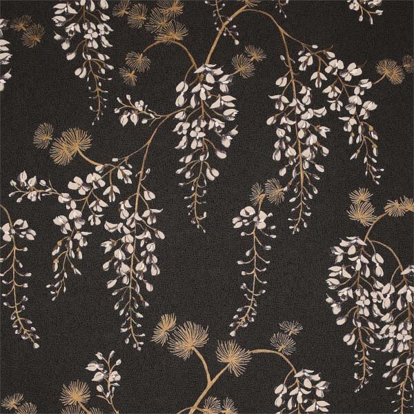 Arthouse Wisteria Floral Black Gold Wallpaper