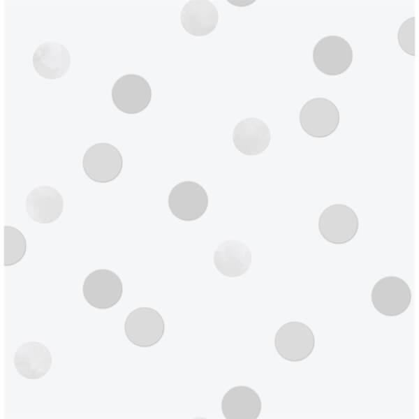 Superfresco Easy Dotty Polka Silver Wallpaper