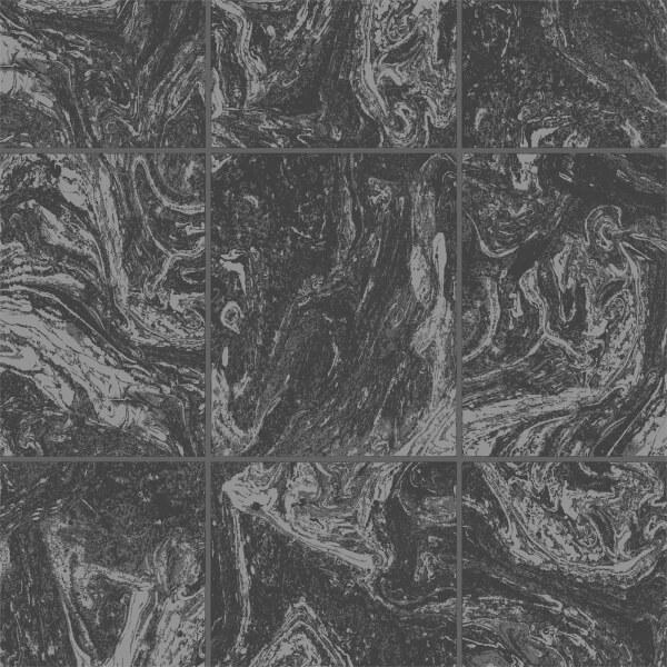 Superfresco Easy Large Marble Tile Black Wallpaper