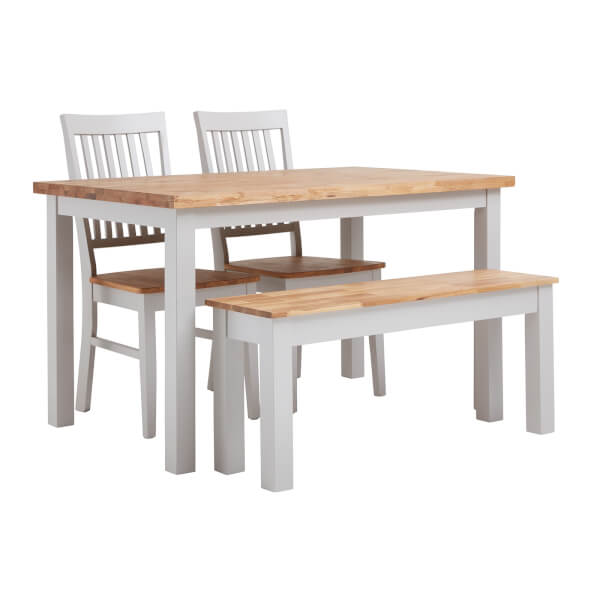 Henlow 4 Seater Dining Set with 2 Chairs & 1 Bench