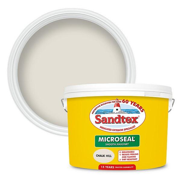 Sandtex Ultra Smooth Masonry Paint - Chalk Hill - 10L