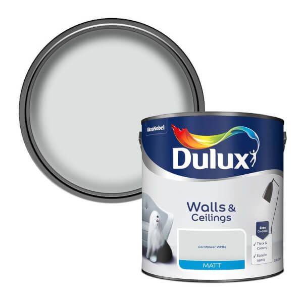 Dulux Cornflower White - Matt Emulsion Paint - 2.5L