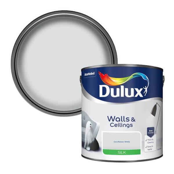 Dulux Cornflower White - Silk Emulsion Paint - 2.5L