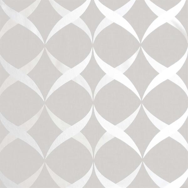Arthouse Metallic Ogee Silver Wallpaper
