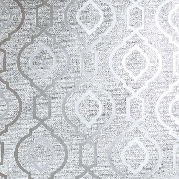 Arthouse Calico Trellis Grey Wallpaper