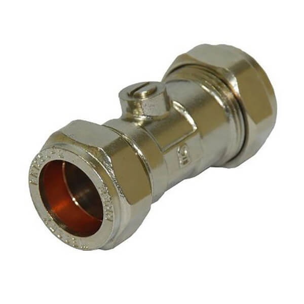 Compression Fitting Isolation Valve - 22mm