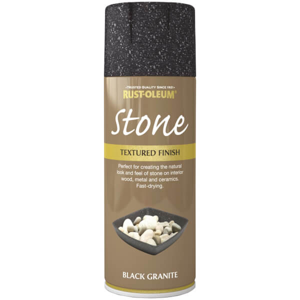 Rust-Oleum Stone Spray Paint - Black Granite - 400ml