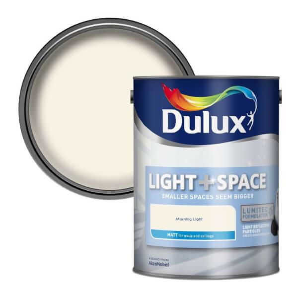 Dulux Light & Space Morning Light - Matt Emulsion Paint - 5L