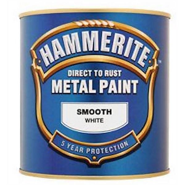 Hammerite White - Exterior Smooth Metal Paint - 250ml